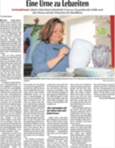 Neue Westfälische - Eine Urne zu Lebzeiten