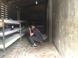 Dru researching at Haitian Orphanage
