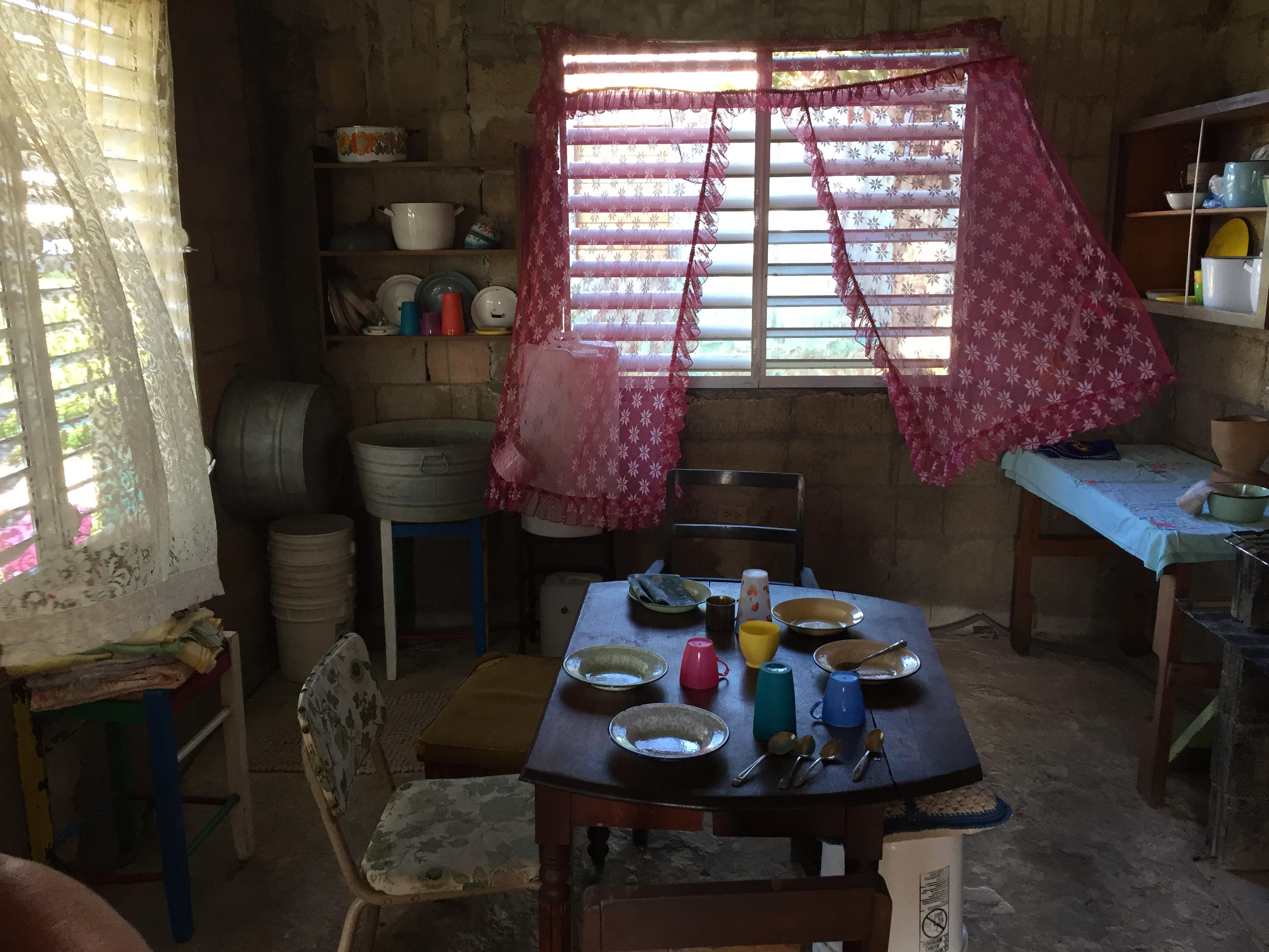 Family kitchen interior set