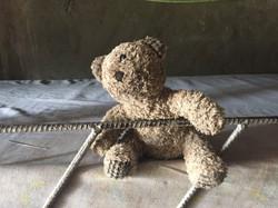 A Haitian orphan child's bear