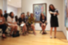 Inquiry based tour in a museum, teacher professional development.