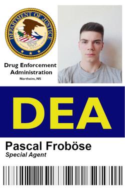 DEA Ausweis Pascal