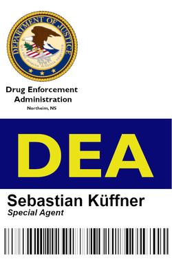DEA Ausweis Sebastian Webseite