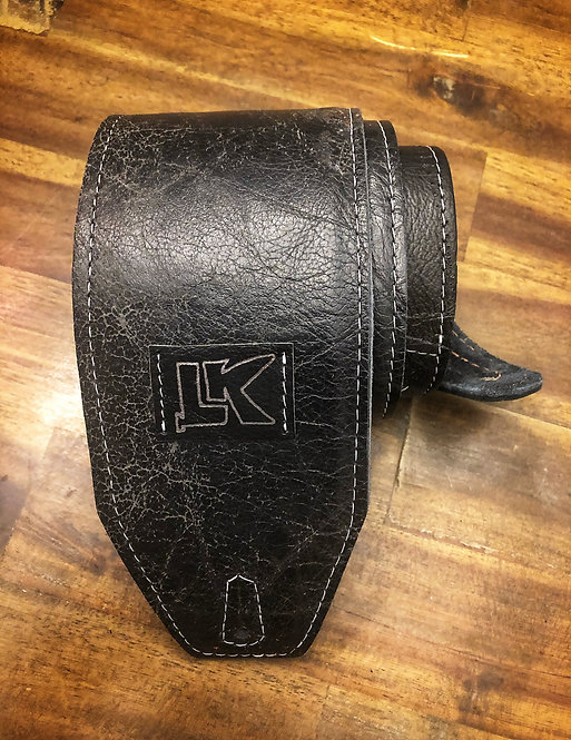 LK Distressed Black Strap (Silver LK)
