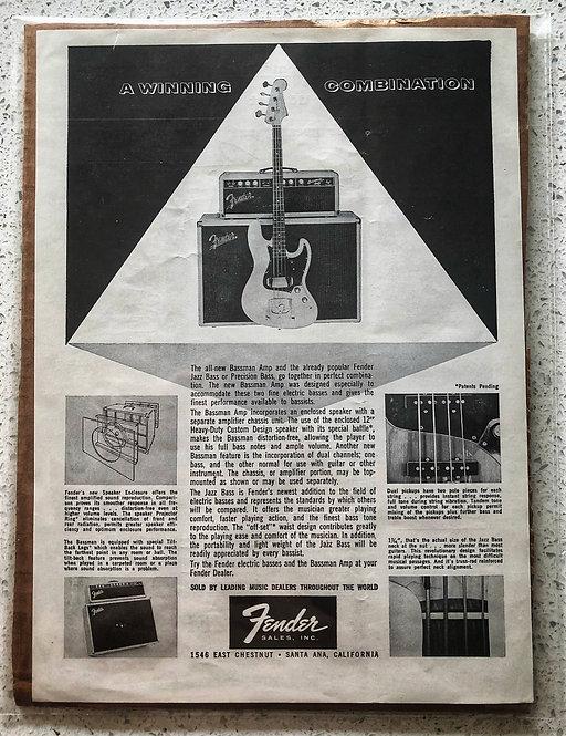 1961 Vintage Fender Ad (Original)