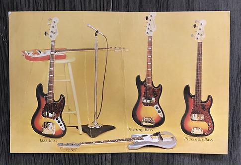 1966 Fender Bass Promo Postcard - RARE!