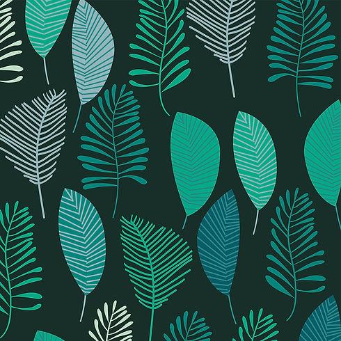 Behrendt Graphic Design pattern fabric design green leaves