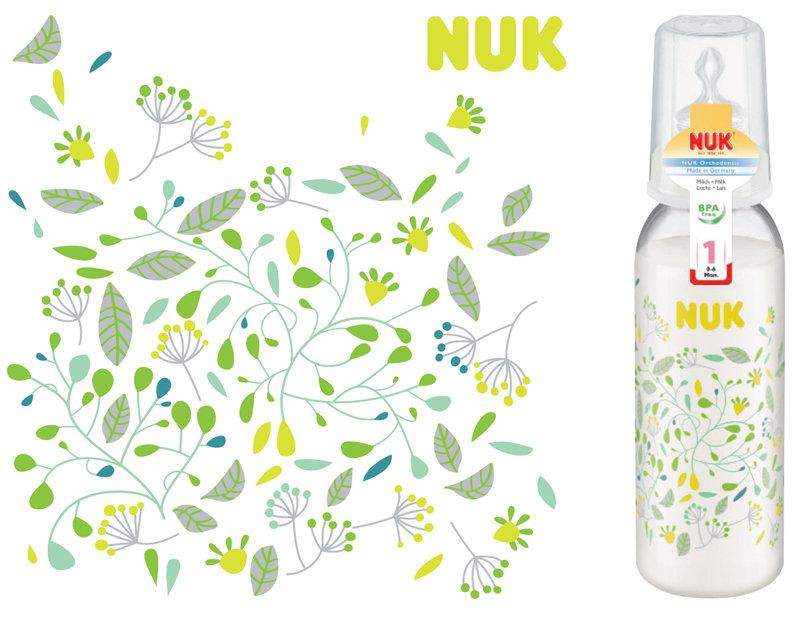 Behrendt Graphic Design FC bottle illustration leaves for NUK