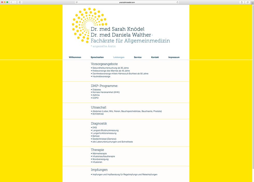Behrendt Graphic Design website for Dr. med Knoedel