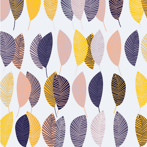 Behrendt Graphic Design pattern fabric design leaves