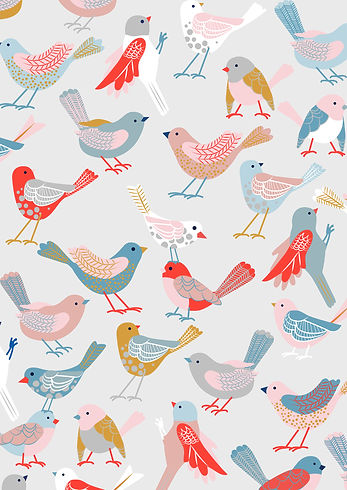 Behrendt Graphic Design pattern fabric design birds
