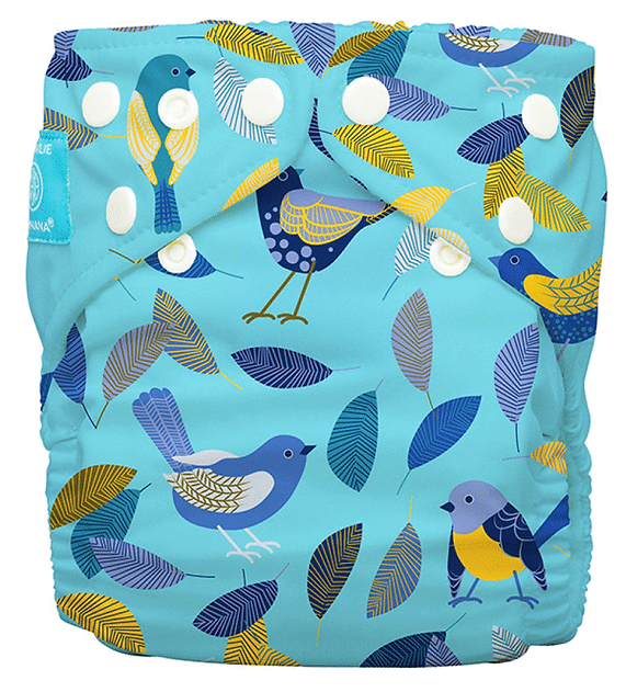 Behrendt Graphic Design diaper design birds for Charlie Banana