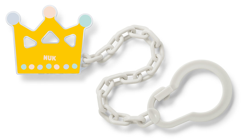 Behrendt Graphic Design soother chain clip crown for NUK