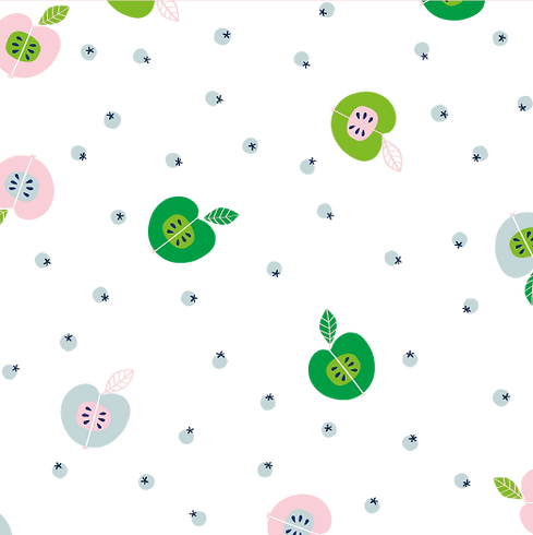 Behrendt Graphic Design pattern fabric design green apples