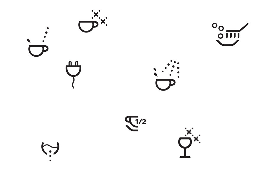 Linn Behrendt symbols icons dish care for AEG Electrolux