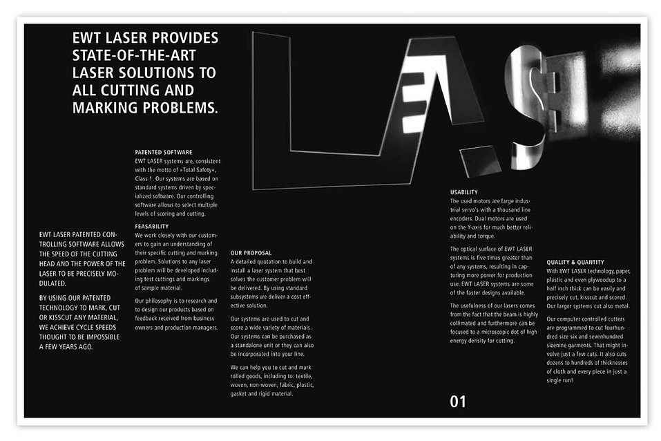 Behrendt Graphic Design corporate identity brochure