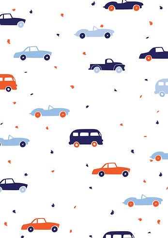 Behrendt Graphic Design pattern fabric design cars