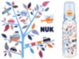 Behrendt Graphic Design FC bottle illustration toy tree for NUK