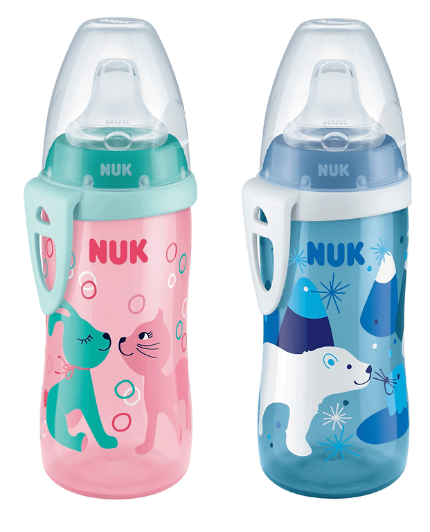 Behrendt Graphic Design bottle illustration bunny cat and ice bear for NUK