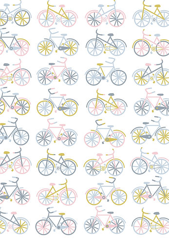 Behrendt Graphic Design pattern fabric design bikes