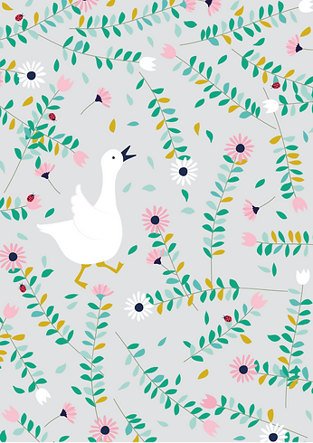 Behrendt Graphic Design pattern fabric design goose