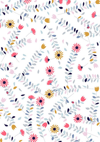 Behrendt Graphic Design pattern fabric design flowers