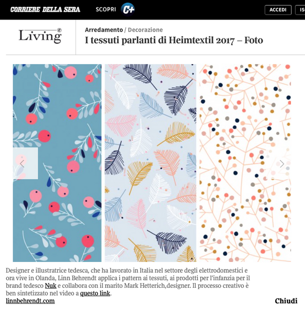 my feature in 'Living'