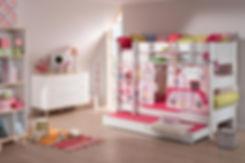 Linn Behrendt designer illustration curtains for Paidi children bunk beds