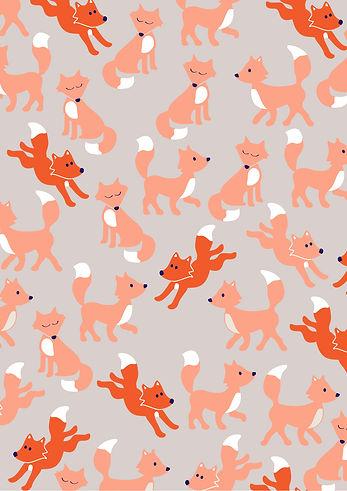 Behrendt Graphic Design pattern fabric design fox