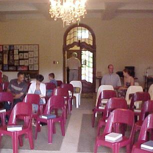 First Service at International School in Nov 2002.