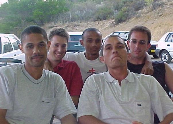 The men 1st Church Camp April 2003