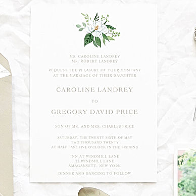 Watercolor NYC Invites