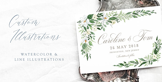 Watercolor Invitation Details