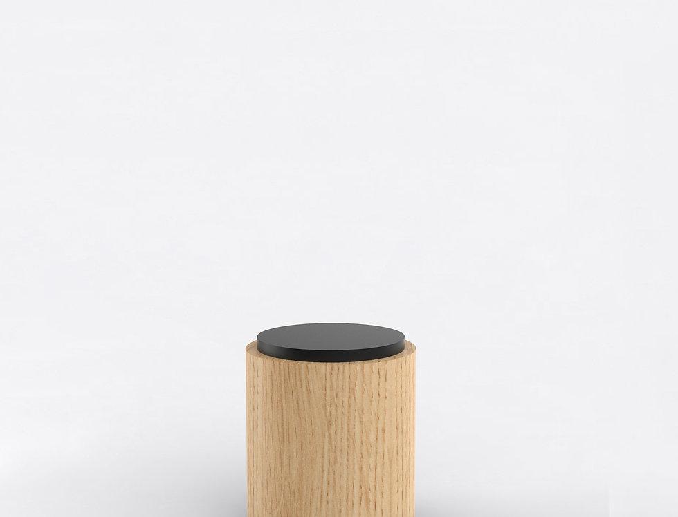 104 Side Table TT Oak BLK