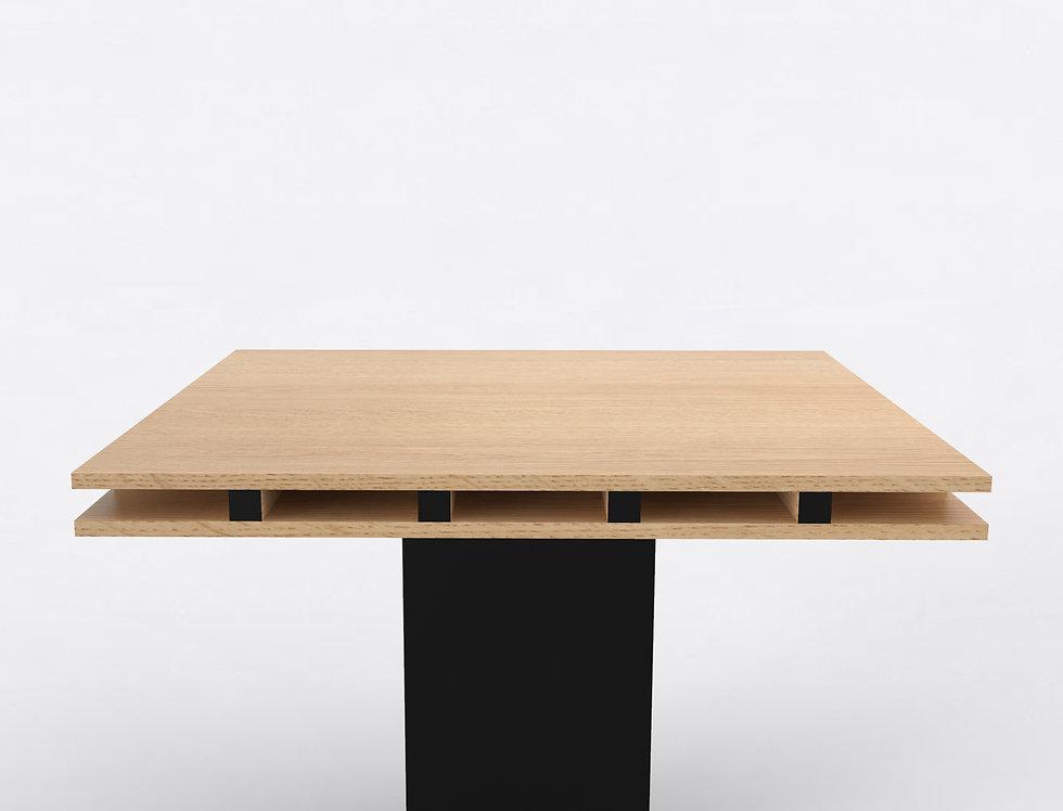101 Dining Table TT Oak BLK