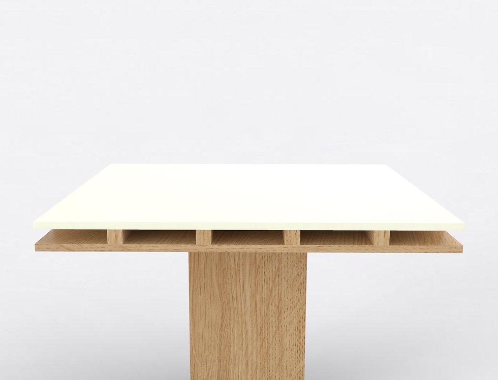 101 Dining Table TT Oak WHT