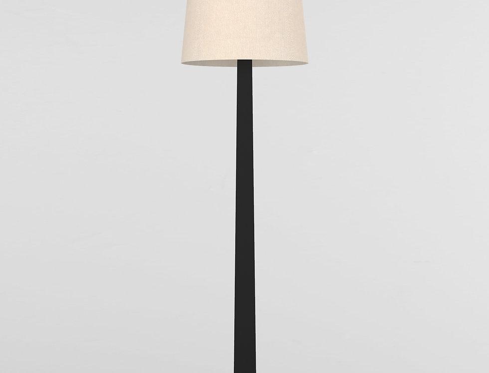 002 Floor Lamp Oak BLK