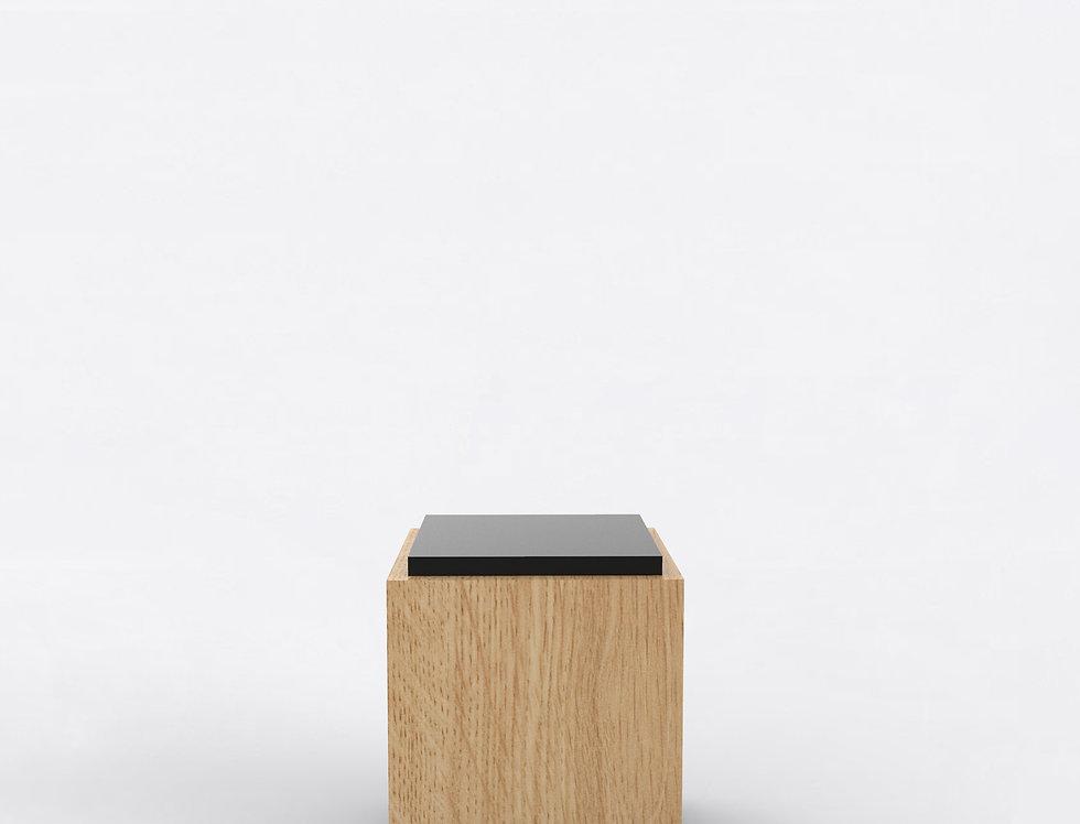 103 Side Table TT Oak BLK