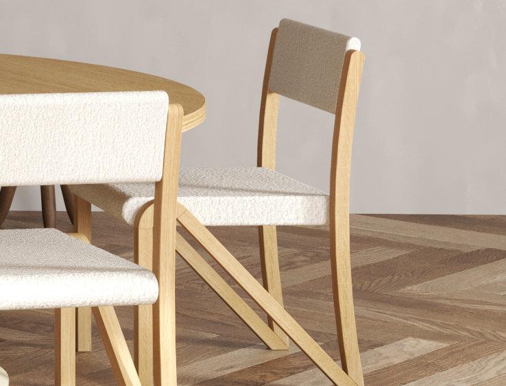 200 Side Chair Oak UPH