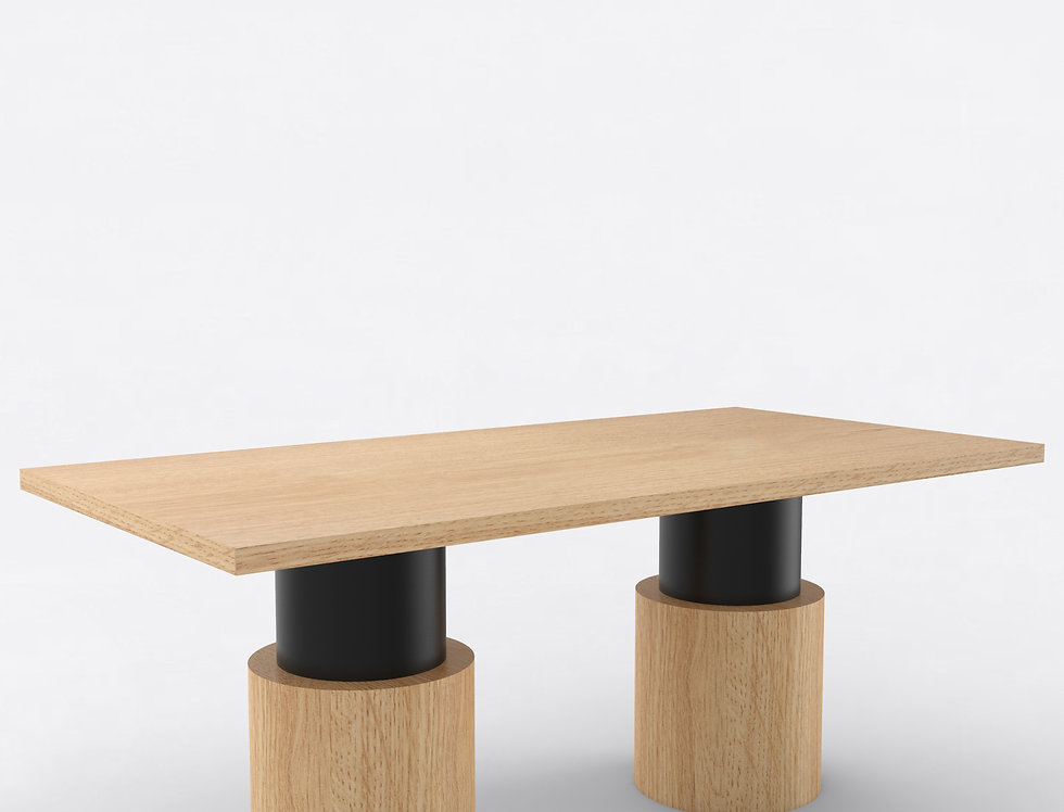 102 Dining Table TT Oak BLK