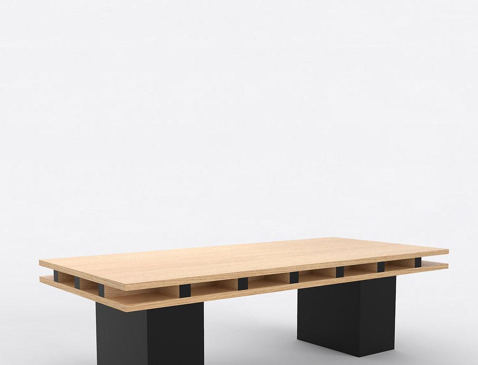 101 Coffee Table TT Oak BLK
