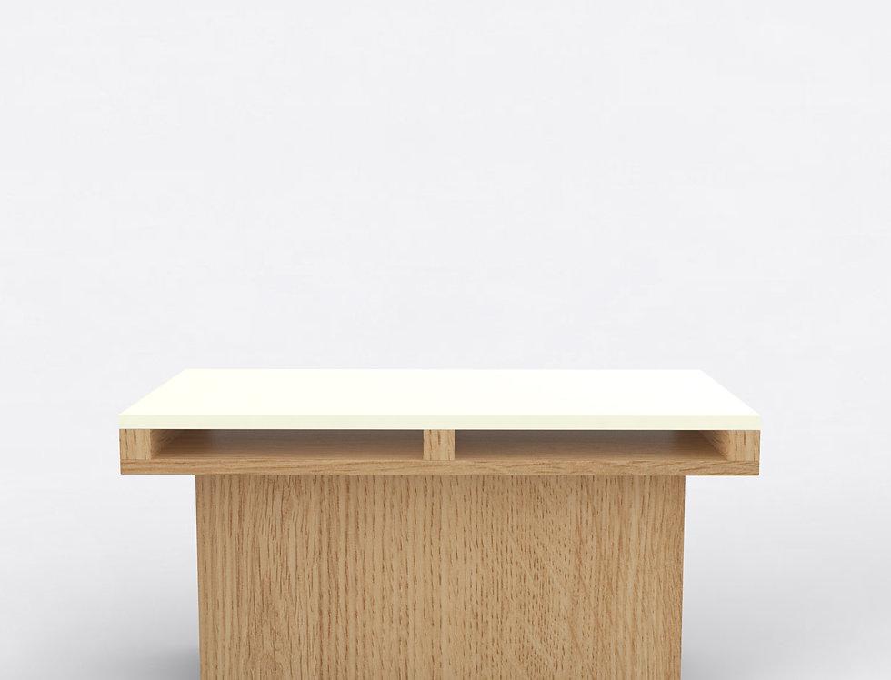102 End Table TT Oak WHT