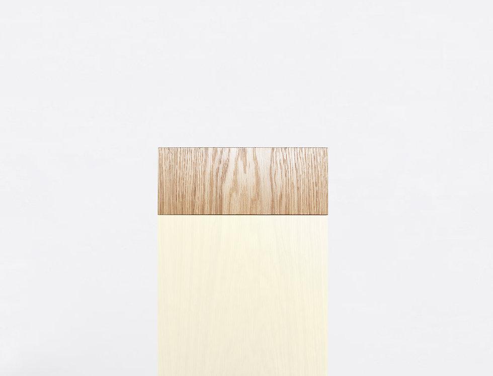 101 Side Table TT Oak WHT