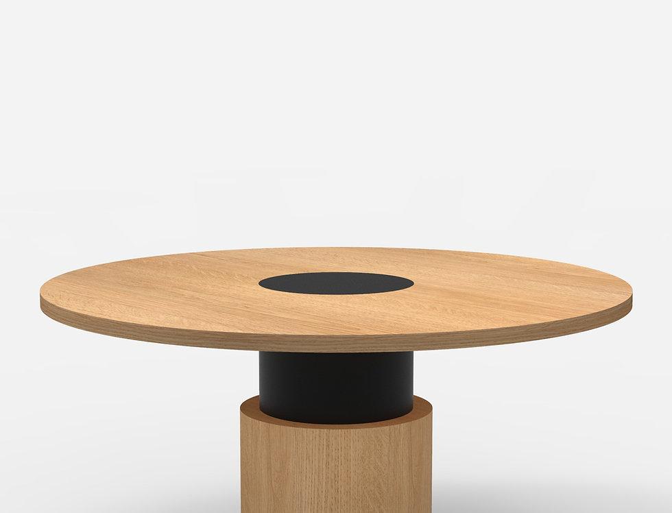 100 Dining Table TT Oak BLK
