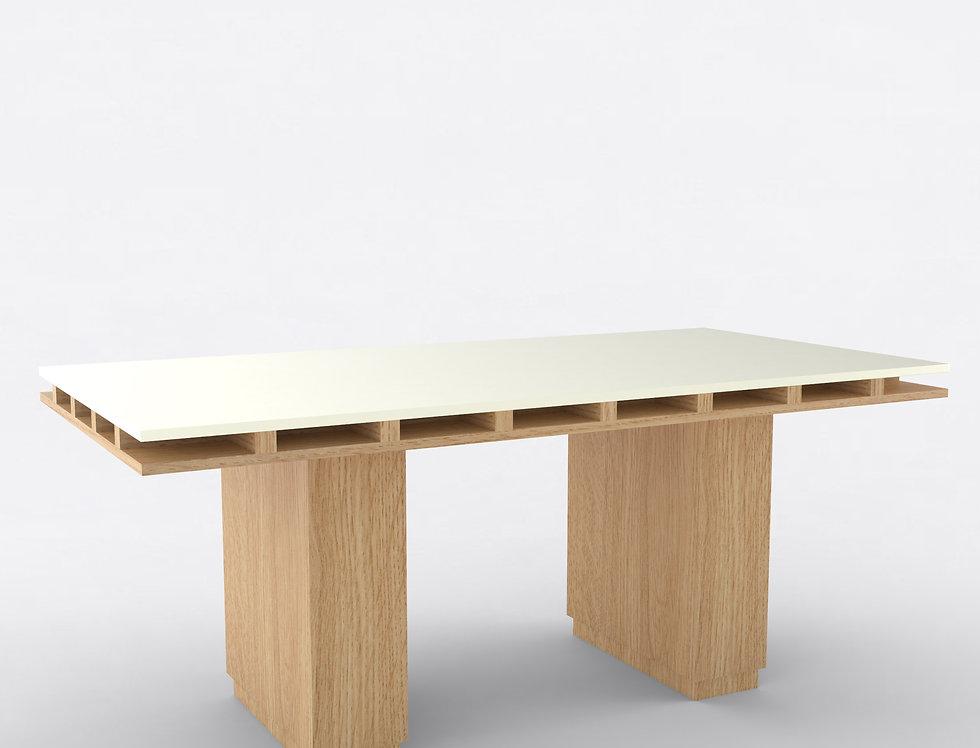 103 Dining Table TT Oak WHT
