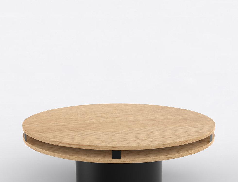 102 Coffee Table TT Oak BLK