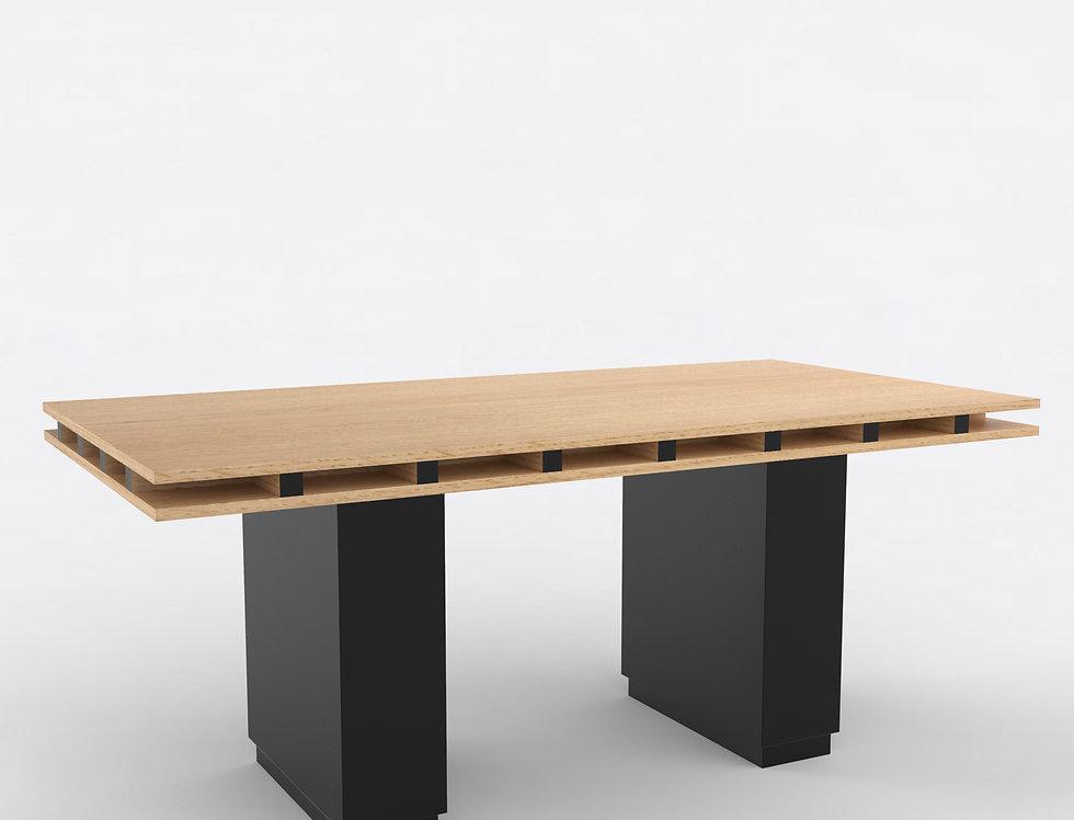 103 Dining Table TT Oak BLK