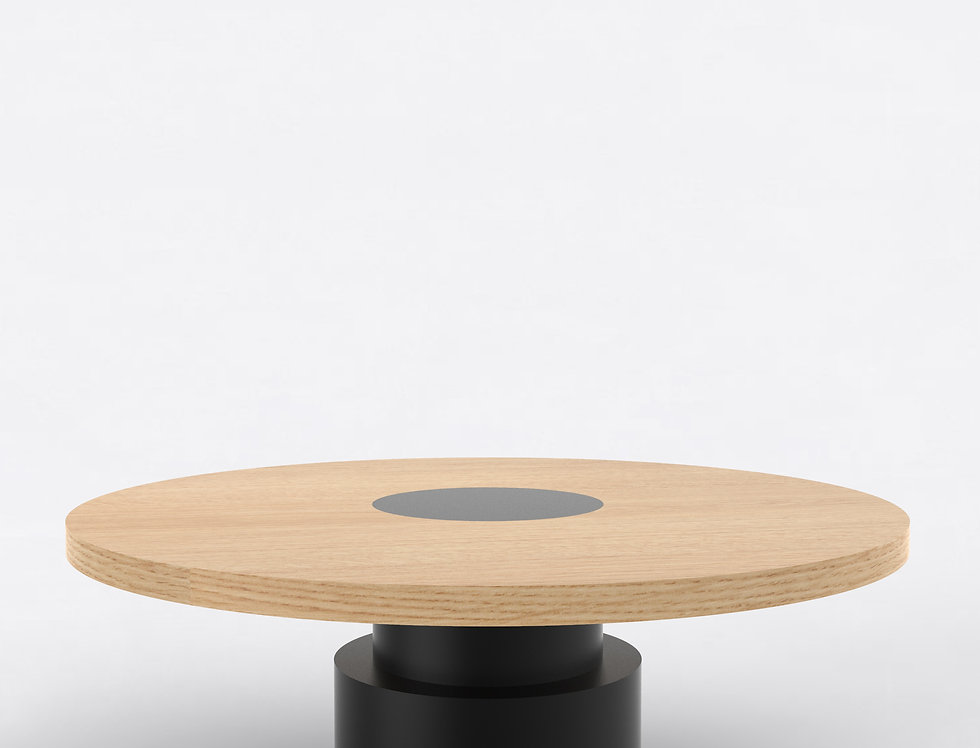 100 Coffee Table TT Oak BLK