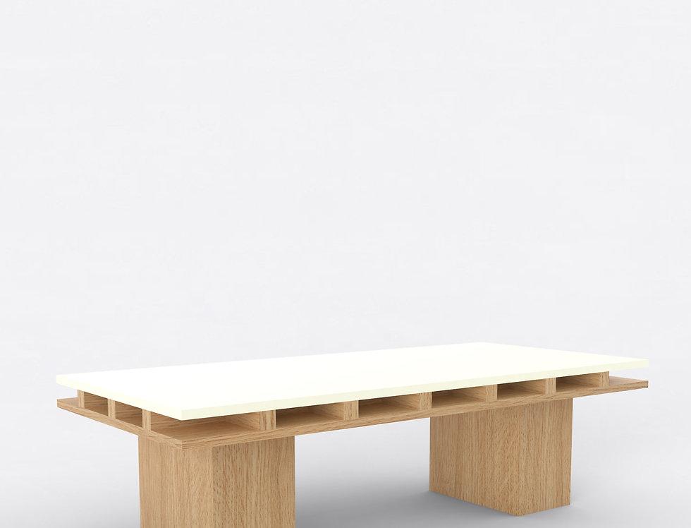 101 Coffee Table TT Oak WHT