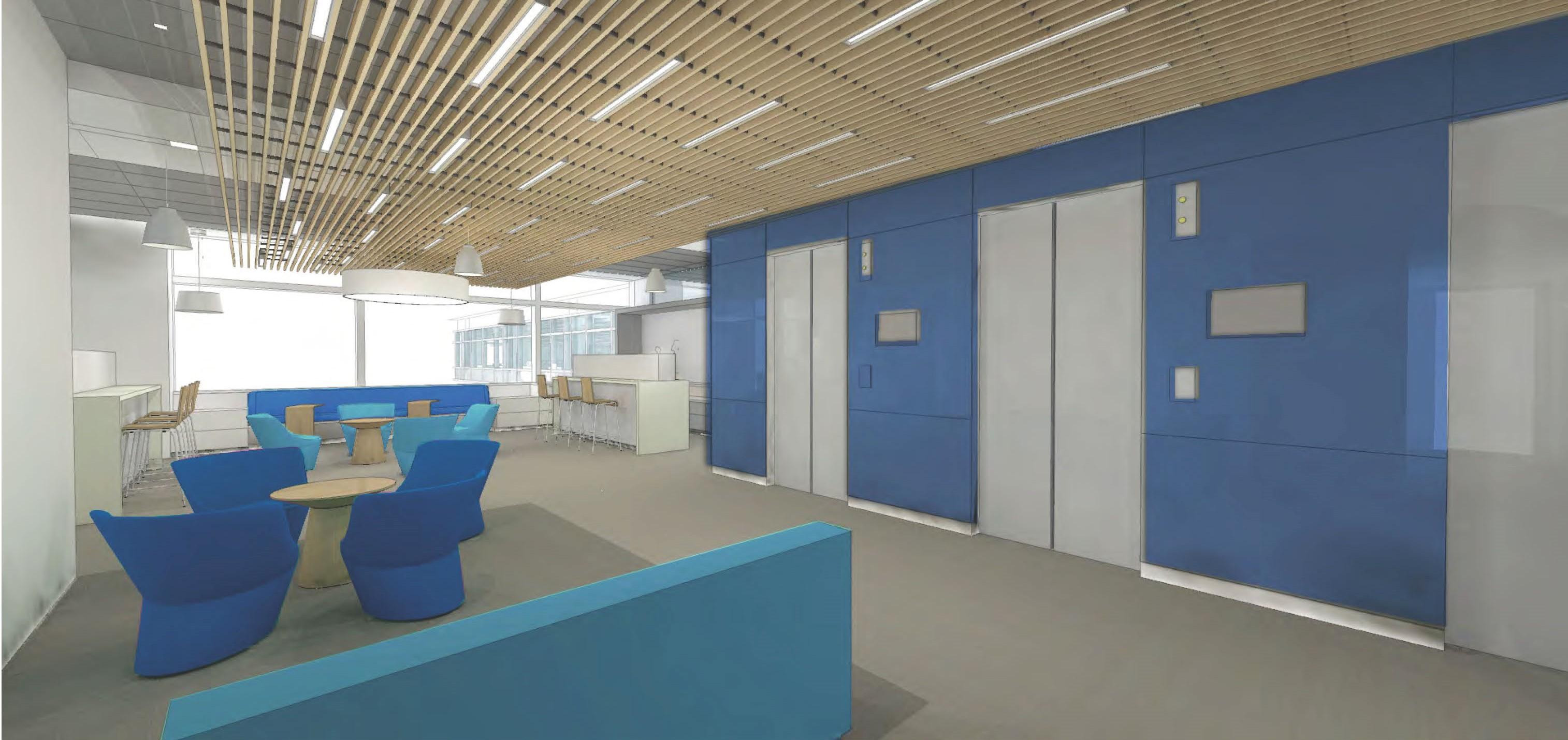 Office Lab Interior Rendering 3